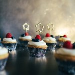 Vanilla Cupcakes with Lilikoi Butter and Mascarpone Frosting