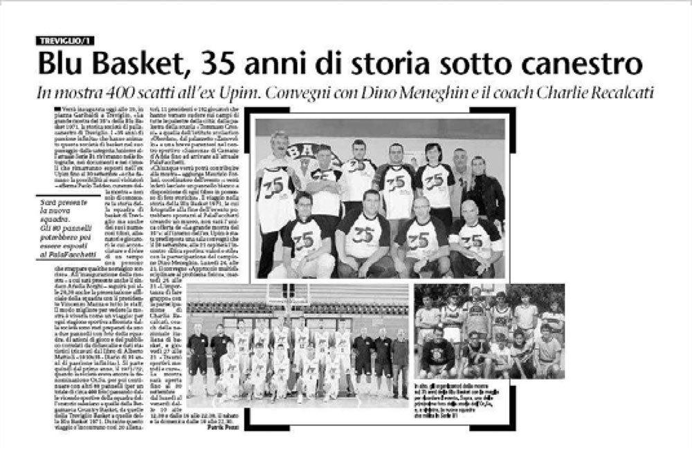 35° Blu Basket – Eco di Bergamo | Forlani Studio