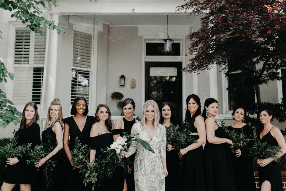 Modern Wedding Virginia Bridal Party
