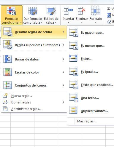 Principales funciones de Excel5