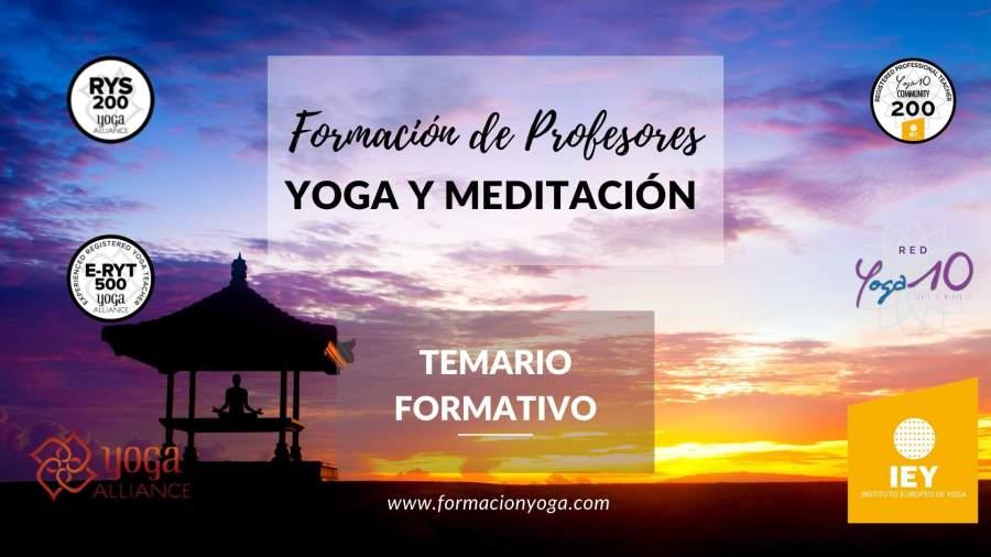 Slide Formación Yoga - Formación de Profesores - YOGA Y MEDITACIÓN - Temario