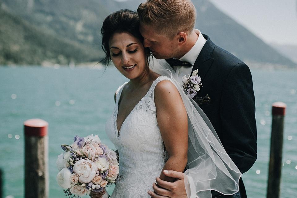 Hochzeit am Achensee, Paarshooting, Braut, Bräutigam
