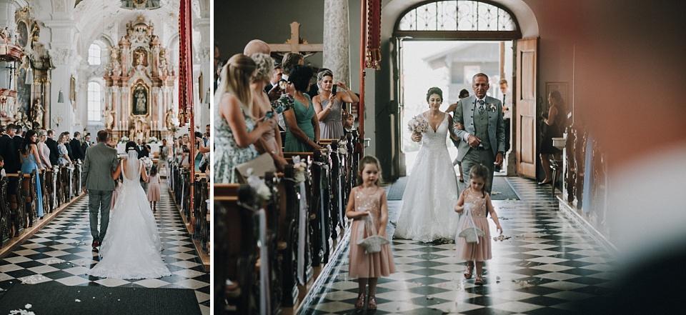 Hochzeit, Eben am Achensee, Kirche, Braut, Vater