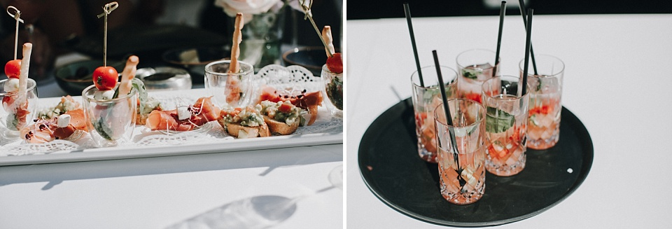 Hochzeit am Achensee, Strandhotel Entners, Fingerfood, Drinks