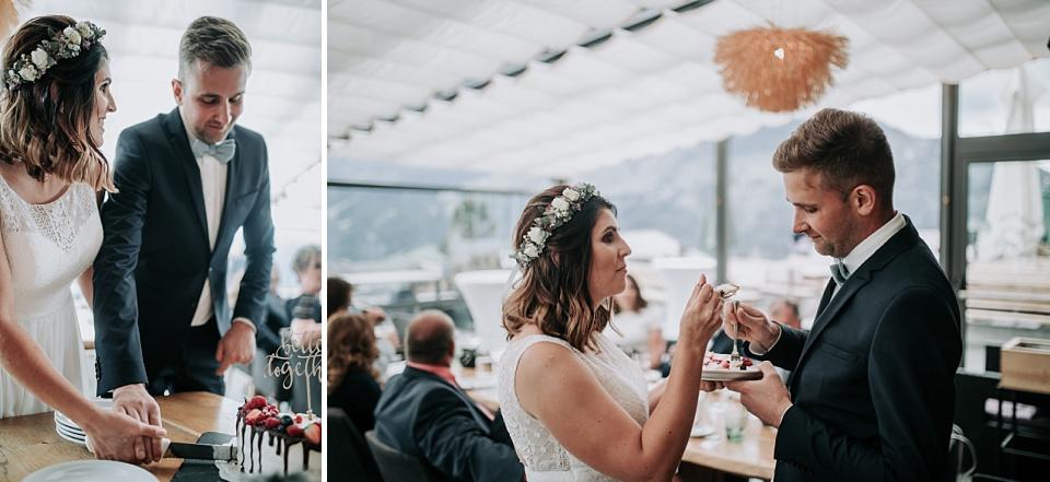 Maierl Alm, Hochzeit, Hochzeitstorte
