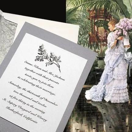 Vintage Lilac Wedding Invitations