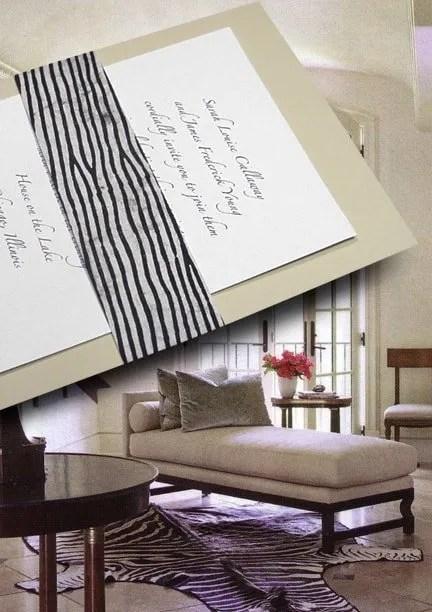 Chic DIY Grey Wedding Invitations with Wood Block Wrap
