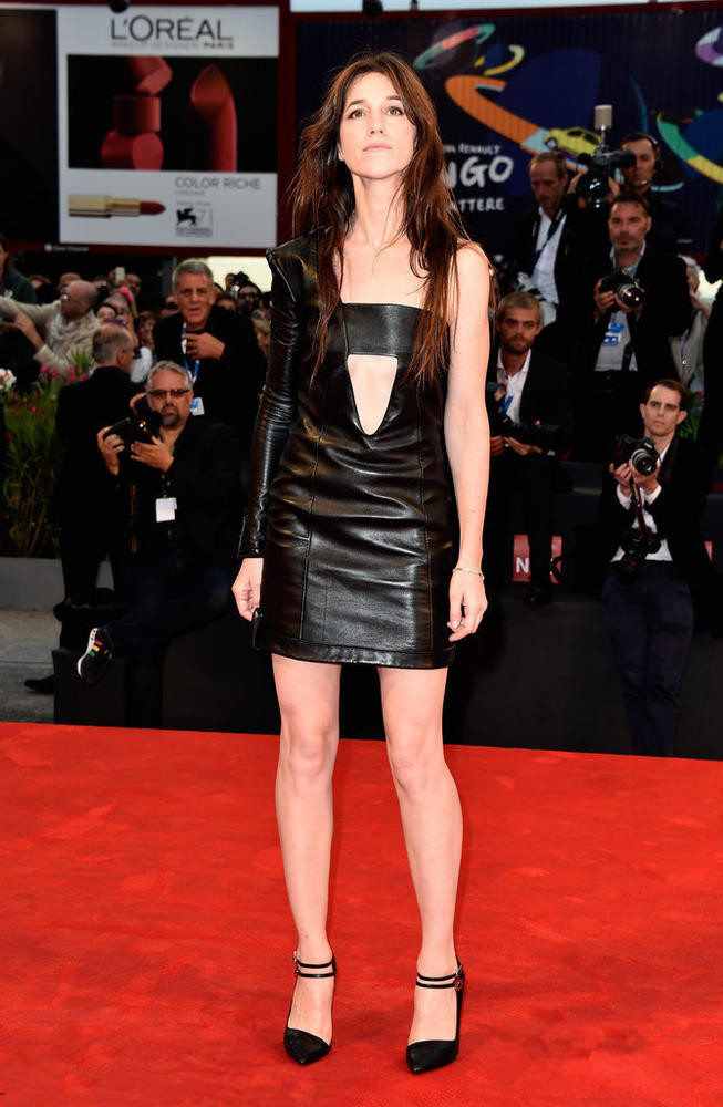 Charlotte Gainsbourg's black short dermal dress