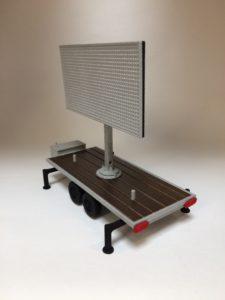 Scale model LED TV trailer_Maxled + Formando