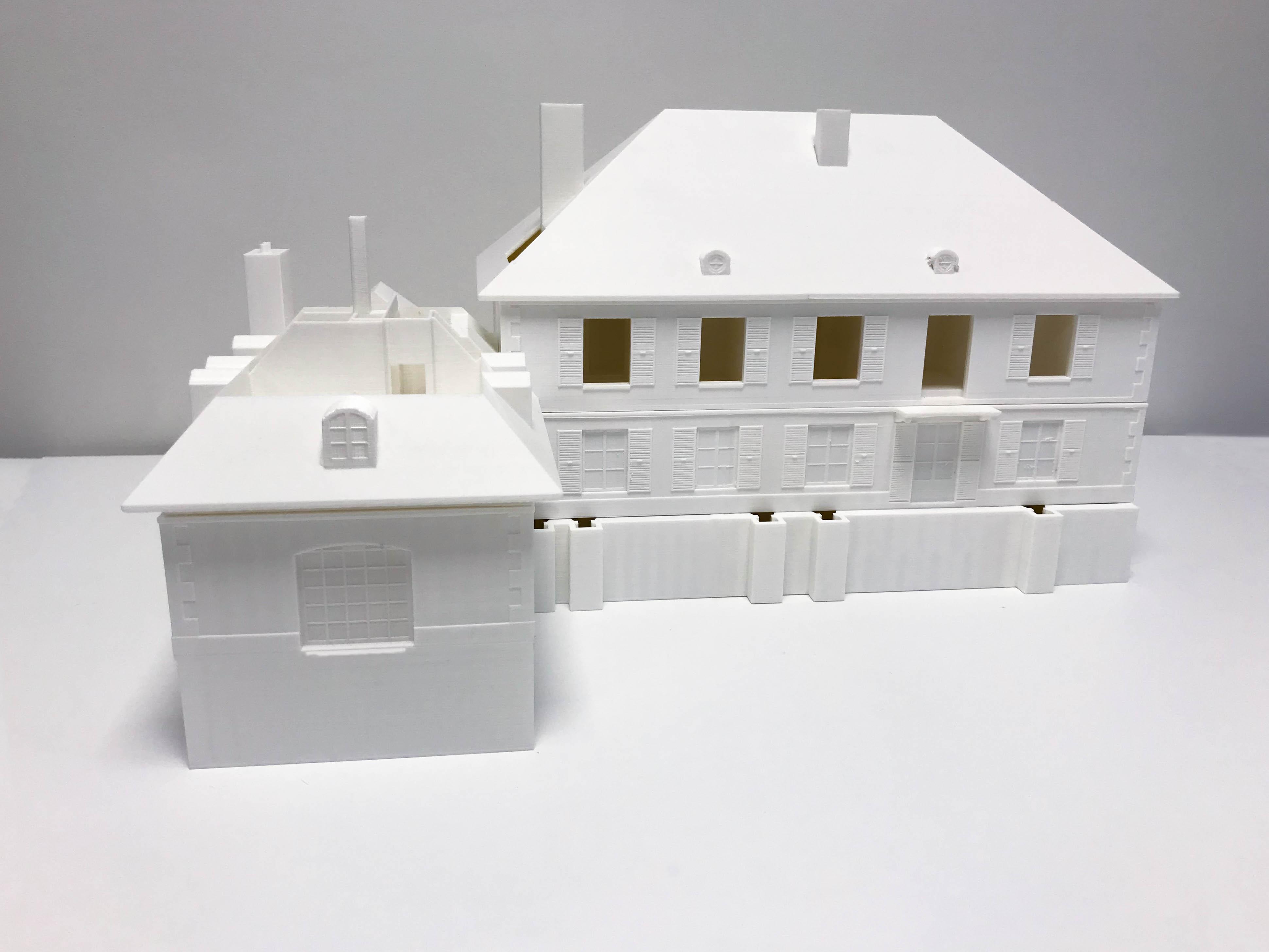 Maquette van demonteerbaar huis, 3D print in PLA