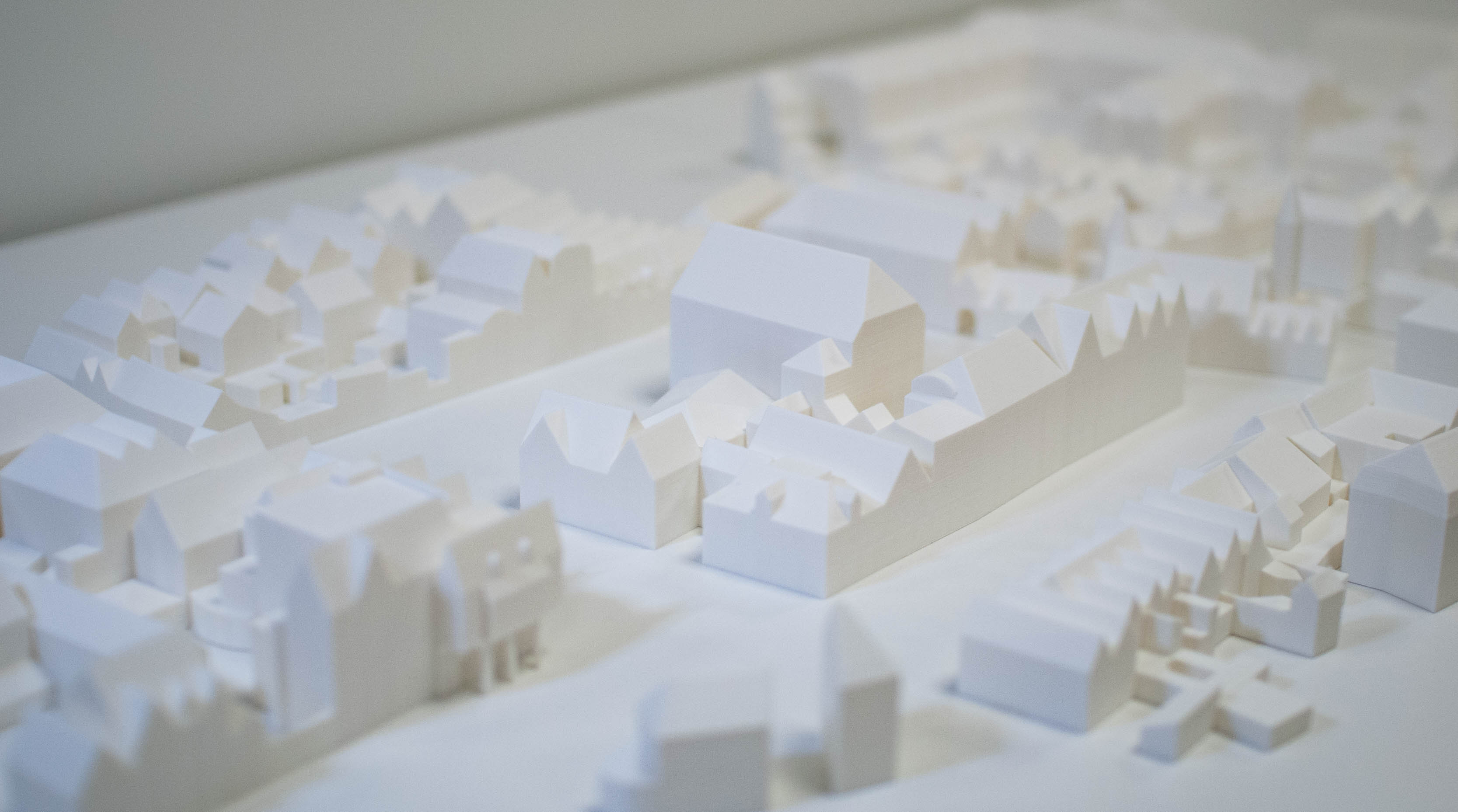 Schaalmodel Maquette inplanting van stadsdeel