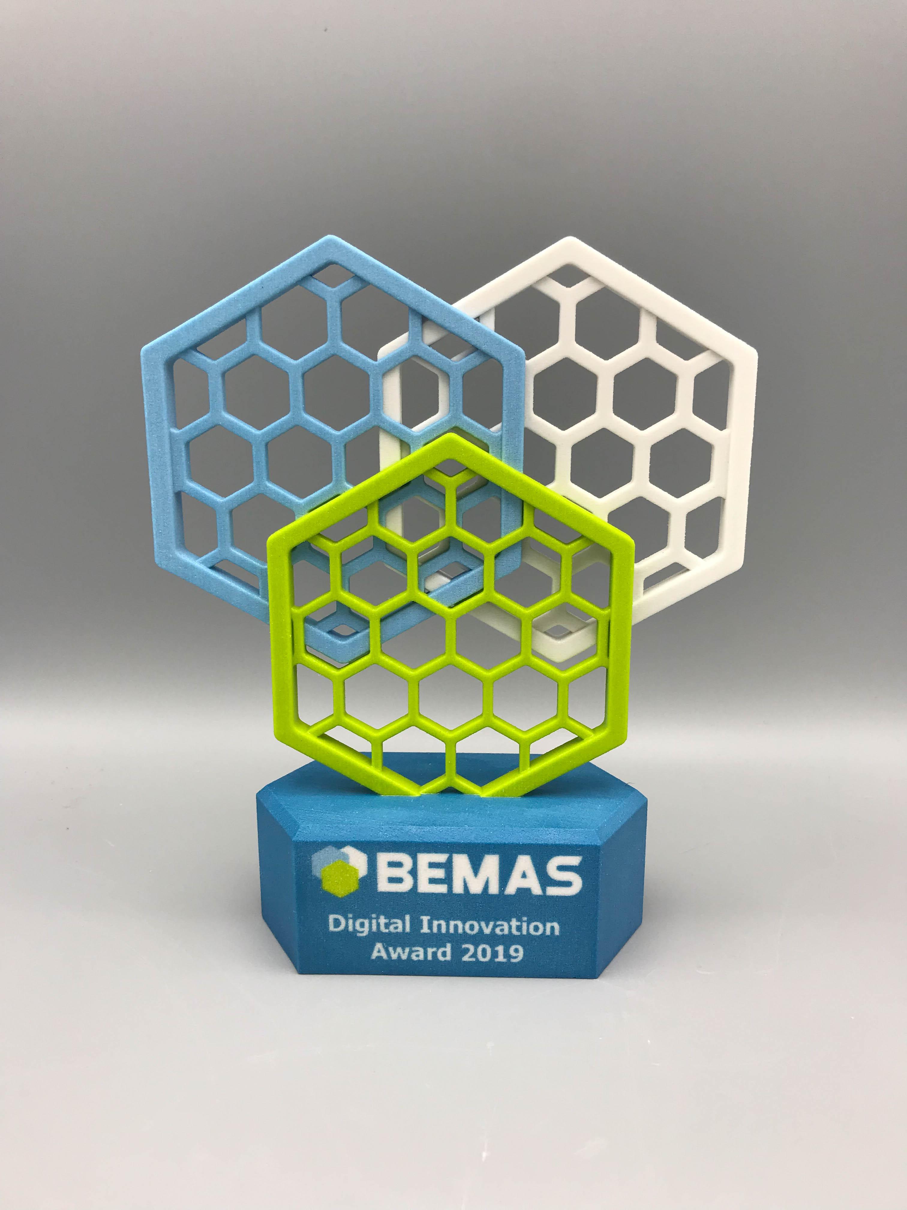 BEMAS digital Innovation Award colour print & design