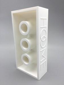 Event eerste steenlegging van bouwproject, gadget lego brik 3D print