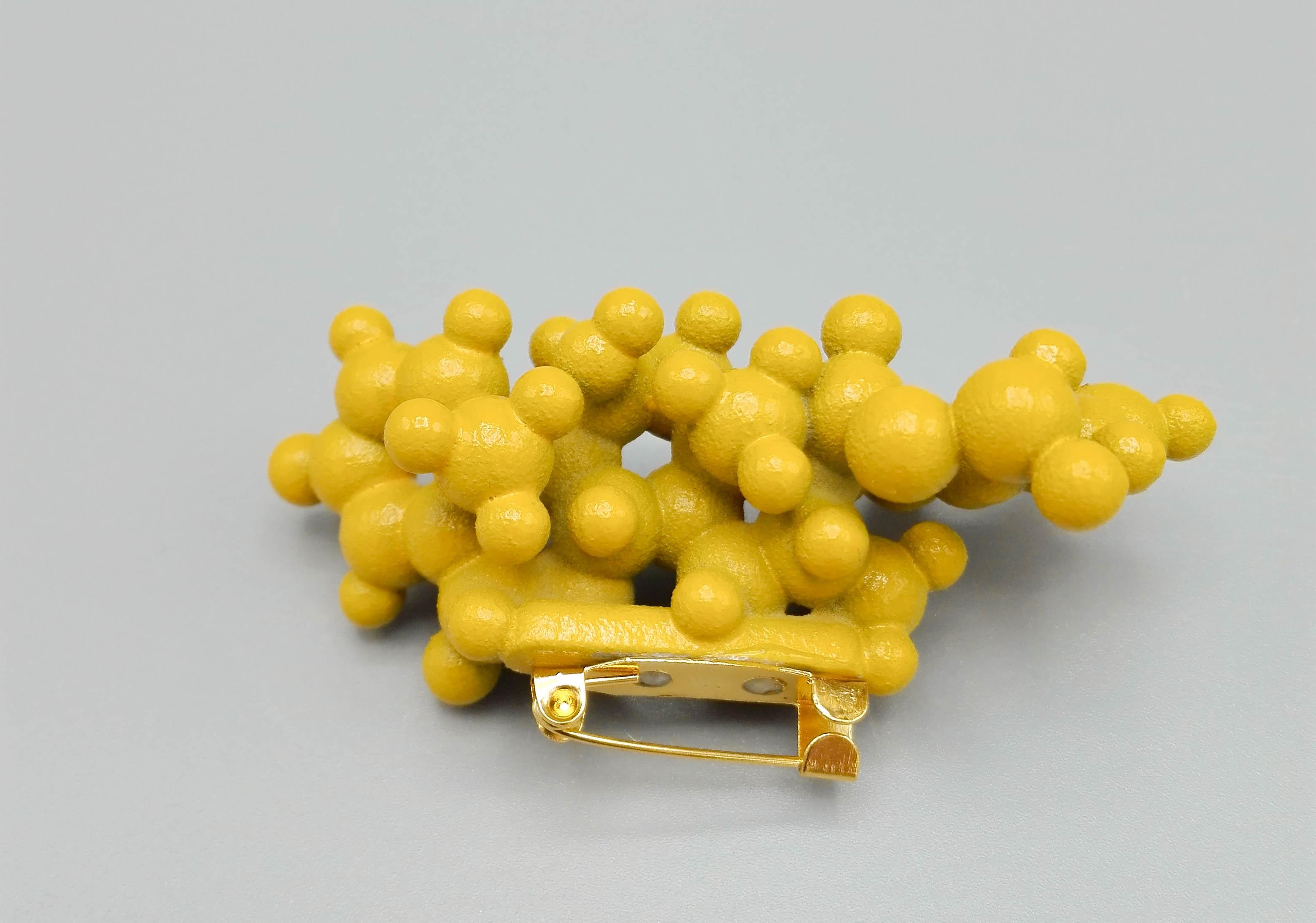 Broche van molecule 3D print