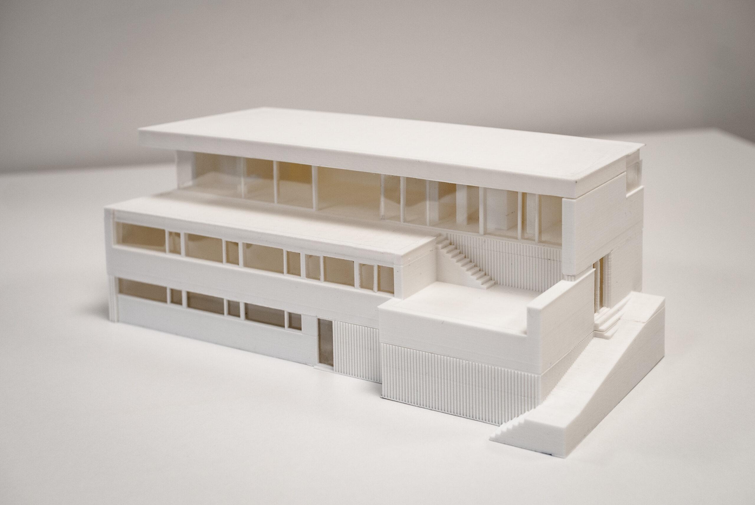 Maquette van woning met kantoorruimte