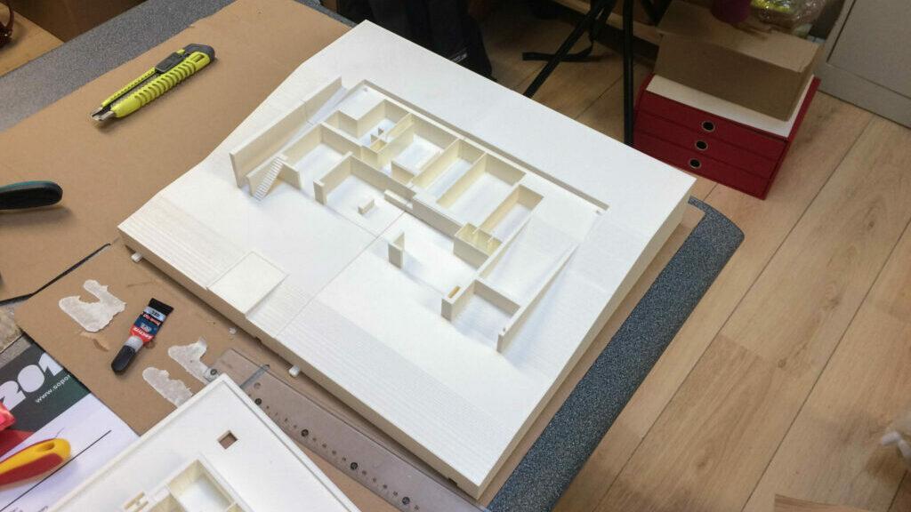 3D maquette huis verdiepen split