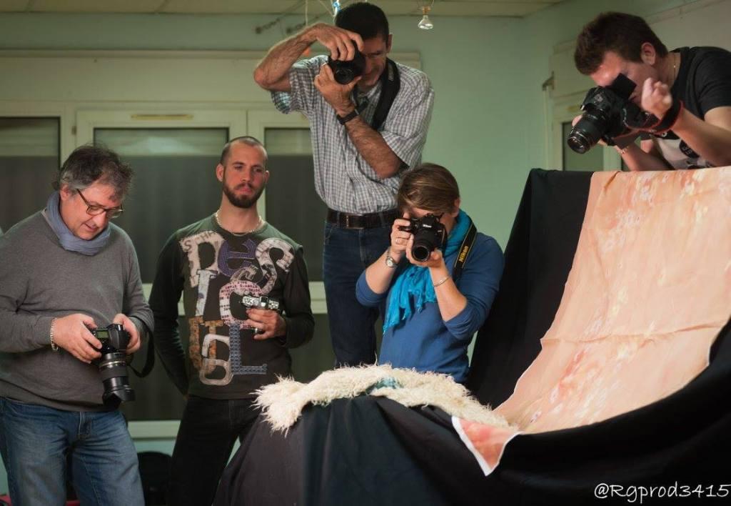 Richard Gastal backstage cours de photo de bébé