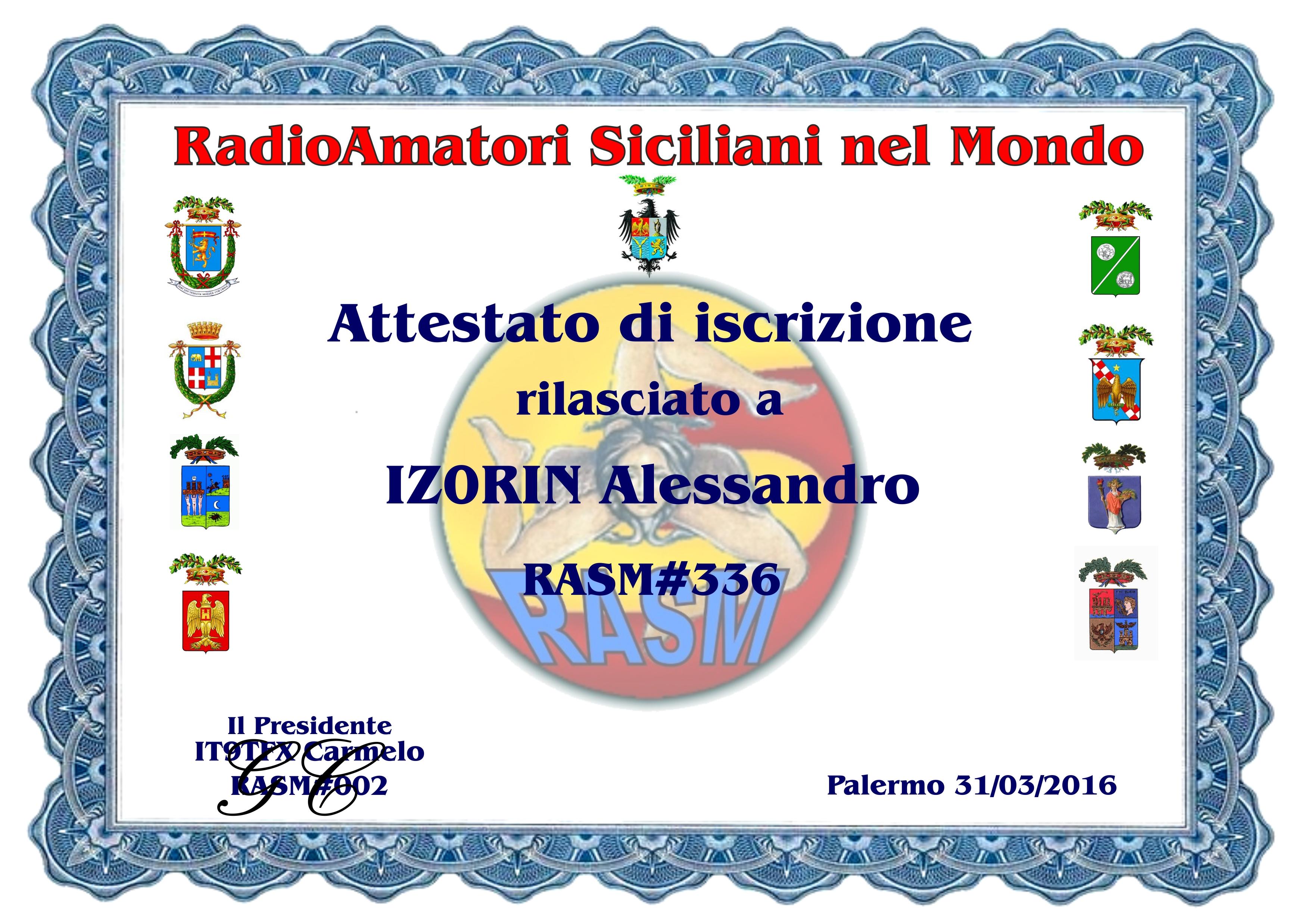 RASM Radioamatori Siciliani nel Mondo