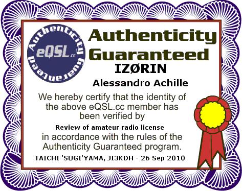 Eqsl Identità garantità