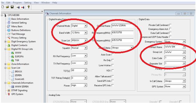 Come si realizza un codeplug per radio DMR – ver. 3.0