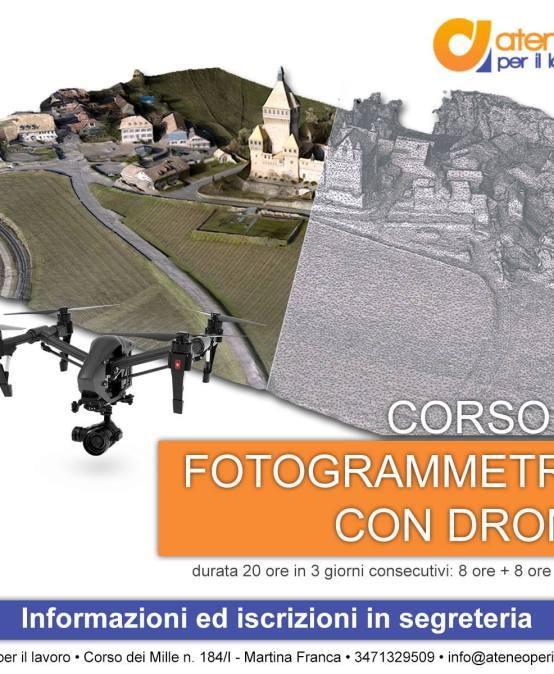 Corso di Fotogrammetria con drone: la tutela del territorio incontra le nuove tecnologie