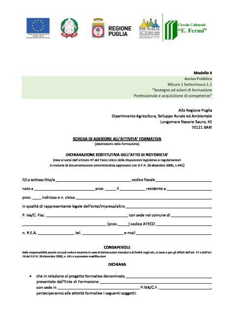 PSR-2014–2020-PUGLIA_Modello-5-SCHEDA-DI-ADESIONE-FERMI