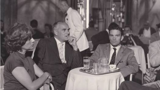 Elsa Morante, Alberto Moravia e Pier Paolo Pasolini (Agenzia Dufoto)