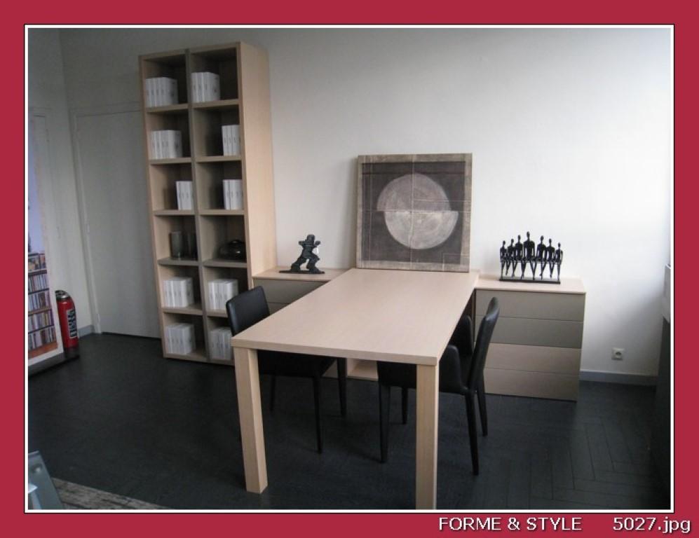 bibliotheque carre spring en chene blanchi et laque ante 88 x 40 x 236 cm