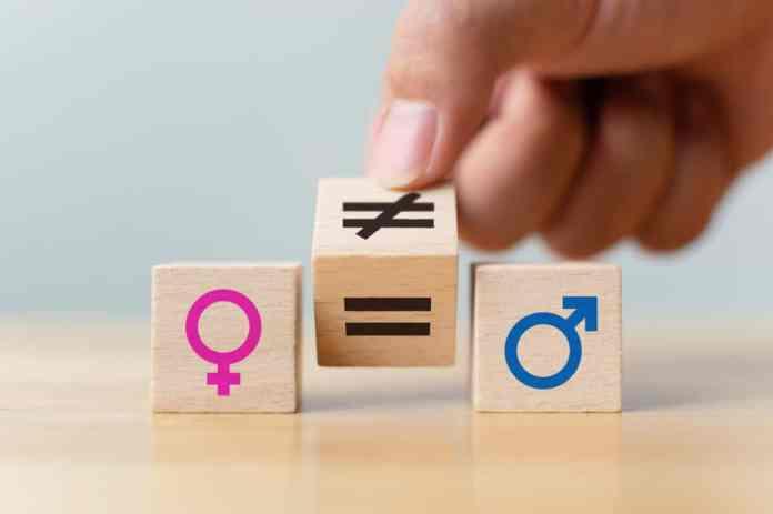 cubi di legno con i disegni del sesso maschile e femminile