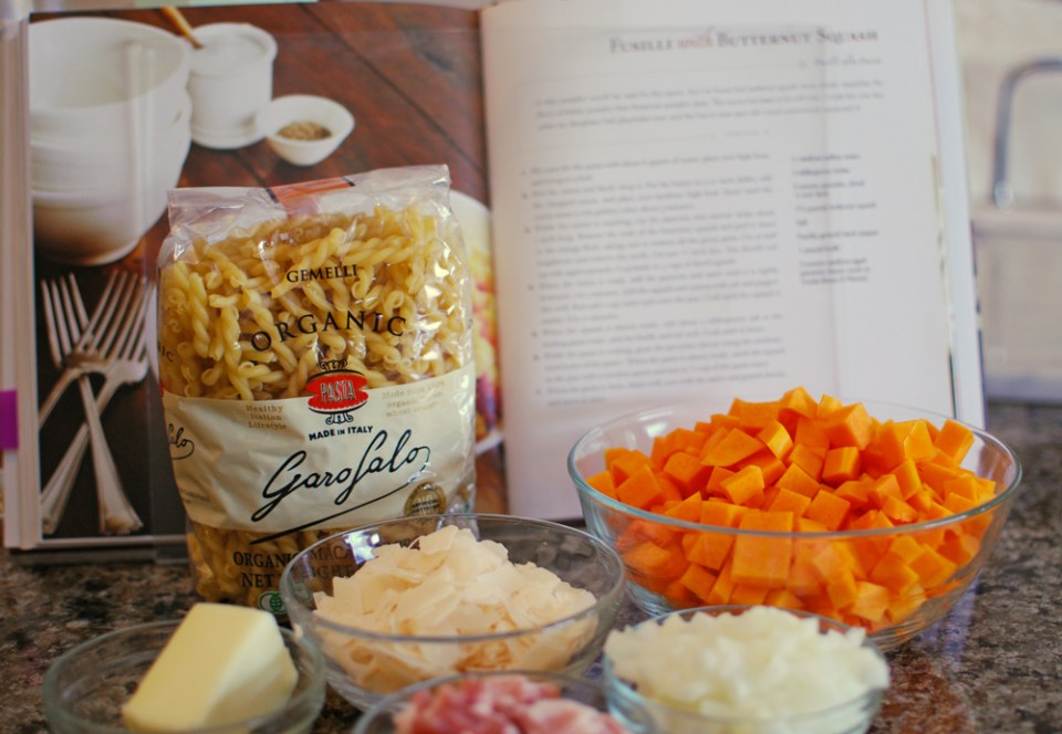 Ingredients for Pasta with Butternut Squash