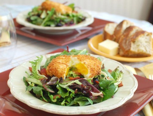 Salad Lyonnaise with Crispy Poached Egg