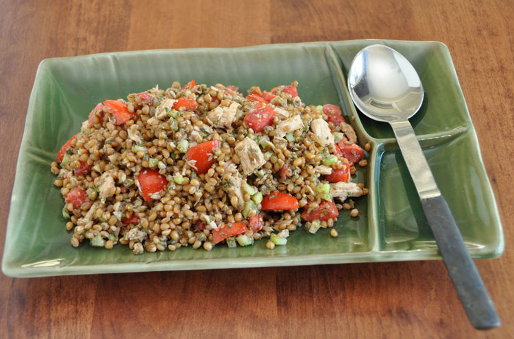 Sicilian Inspired Wheat Berry and Tuna Salad