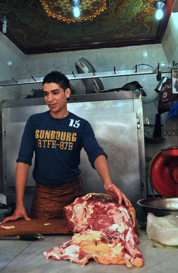 Fez Morocco butcher
