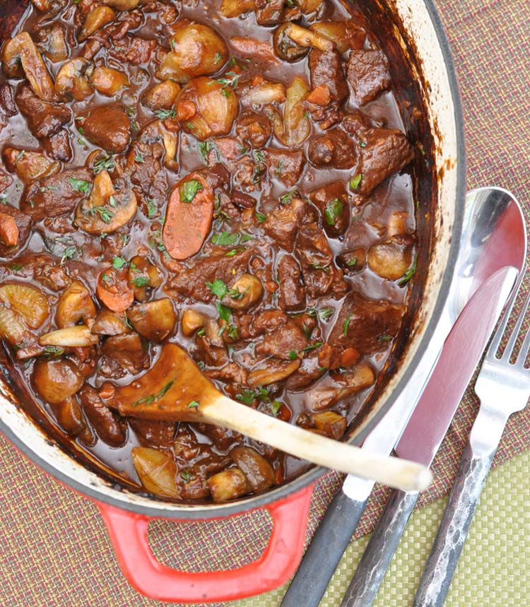 Boeuf Bourguignon (Beef Cooked in Red Wine)