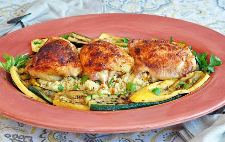 Roasted Chicken Thighs with Berbere Spice and Orange