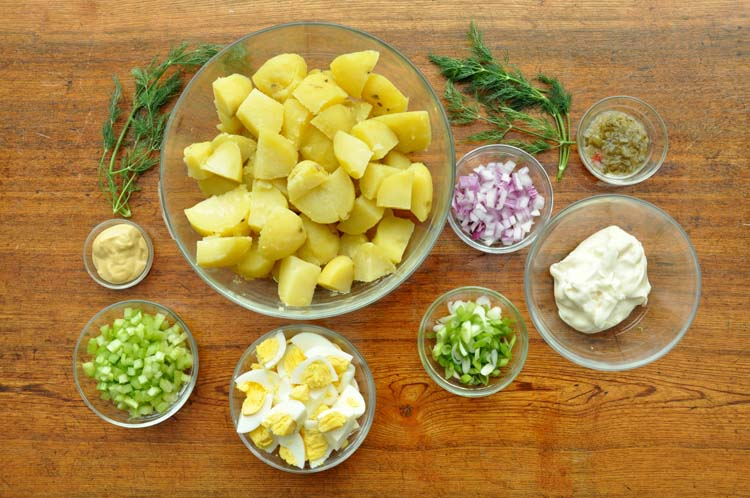 Classic Potato Salad Ingredients