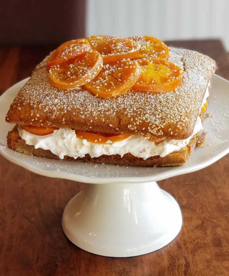 Tangerine Sesame Cake