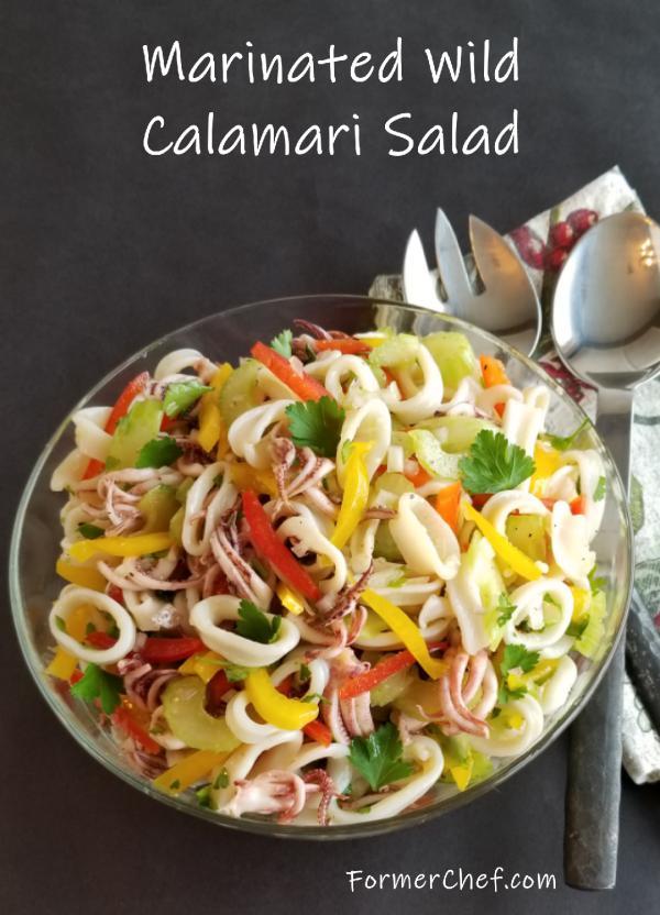 Marinated Wild Calamari Salad