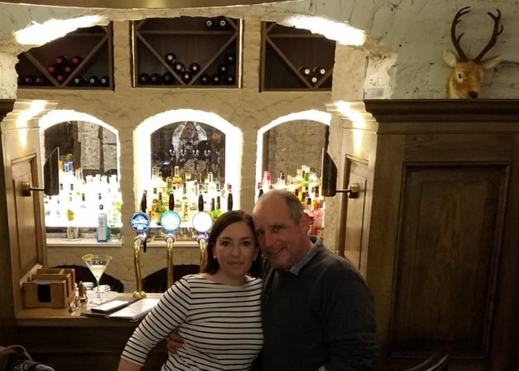 Us in the Cellar Bar at Cahernane House.