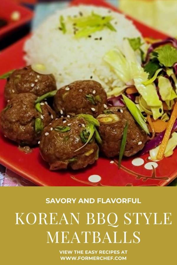 Korean Barbecue Style Meatballs