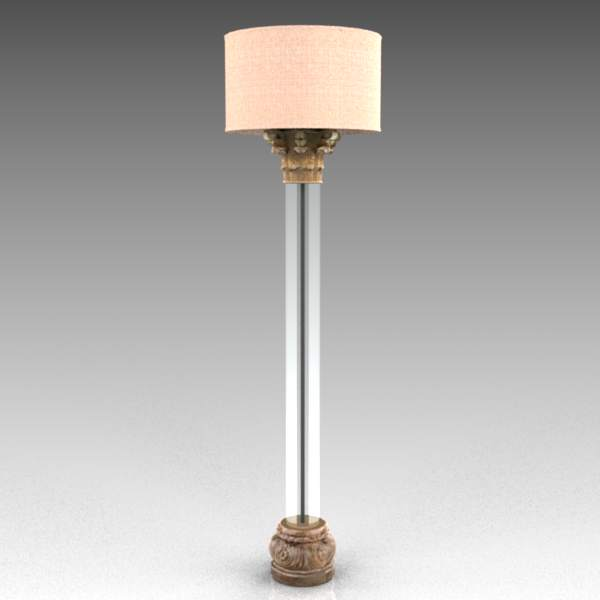 Corinthian Lucite Lamp 3d Model Formfonts 3d Models Textures