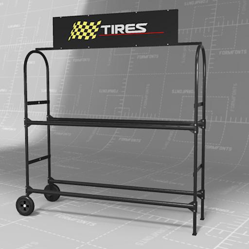 tire rack set 3d model formfonts 3d