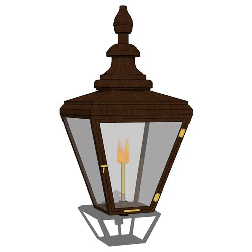 gas light lantern 3d model