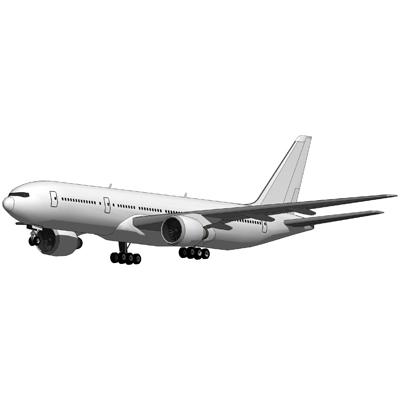 Boeing 777 Blank 3D Model FormFonts 3D Models Amp Textures