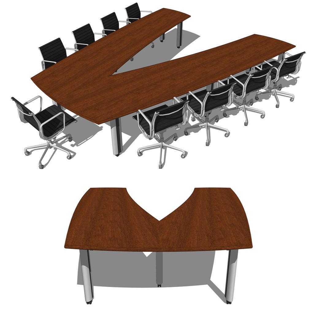 Duovo Conference Room Group 3D Model FormFonts 3D Models