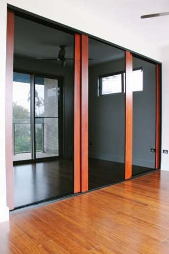 Built in Robe Doors 3 panels with timber stiles