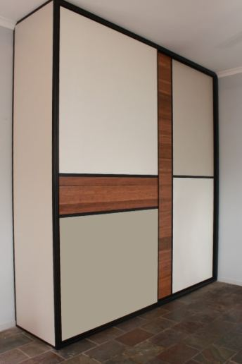 Wardrobe Sliding Doors with floating timber floor boards