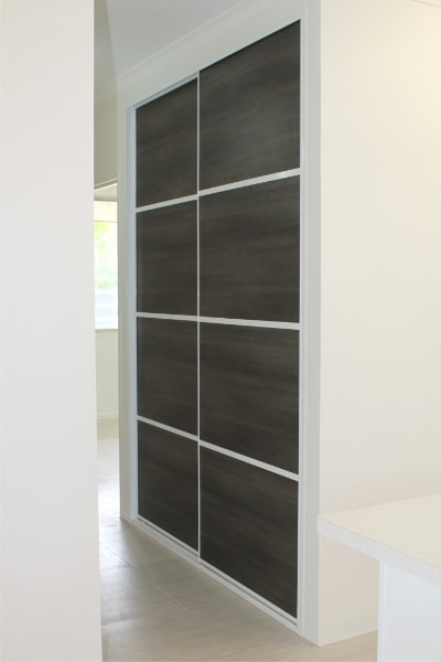 Hallway Cupboard with Charred Oak 4 panel
