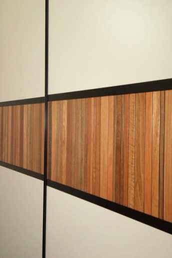 Multi Colour Merbau timber inlay to sliding door