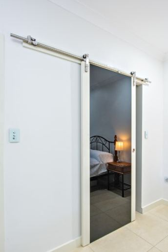 Timber and Glass Barn Door